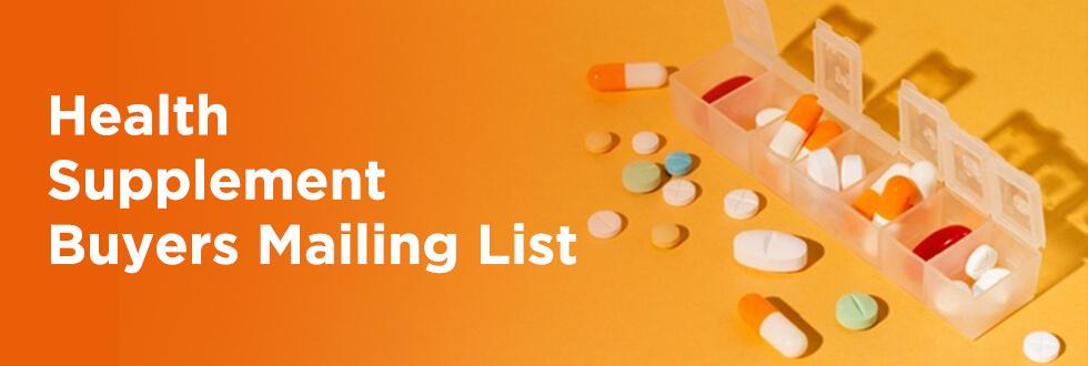 Health Supplement Buyers List