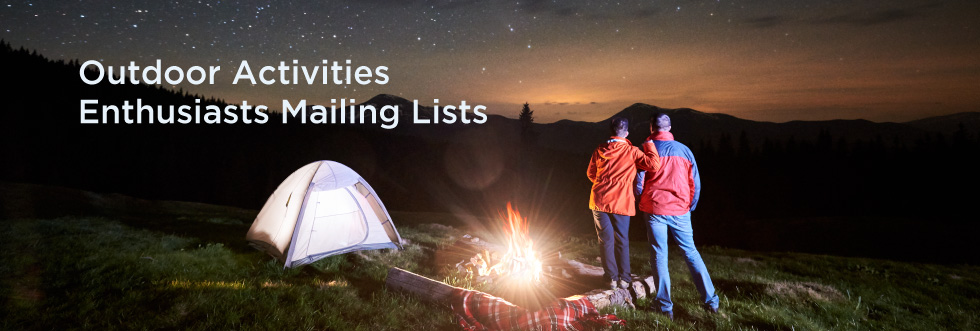 Outdoor Activities Enthusiasts Mailing Lists